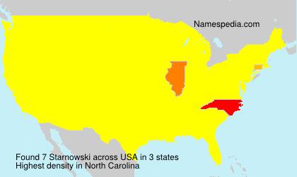 Surname Starnowski in USA