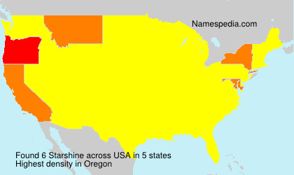 Surname Starshine in USA