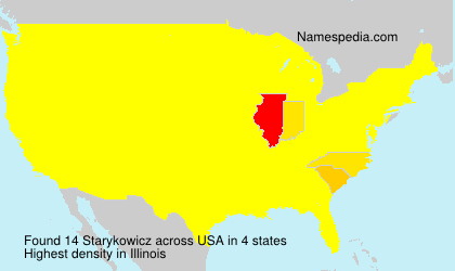 Surname Starykowicz in USA