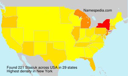 Familiennamen Stasiuk - USA