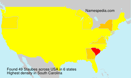 Surname Staubes in USA