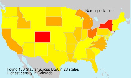 Surname Staufer in USA