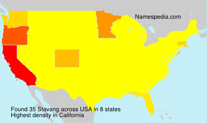 Surname Stavang in USA