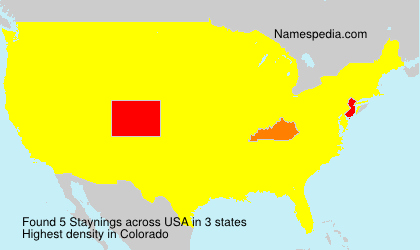 Surname Staynings in USA
