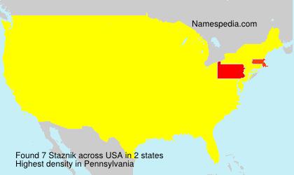 Familiennamen Staznik - USA