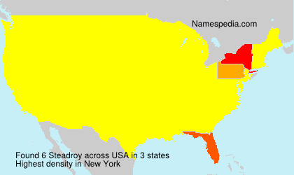 Surname Steadroy in USA