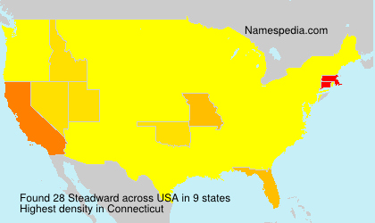 Surname Steadward in USA