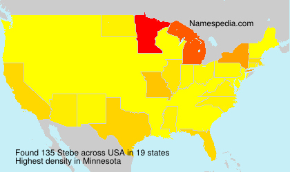 Surname Stebe in USA
