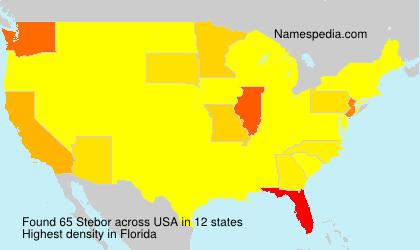 Surname Stebor in USA