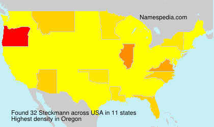 Surname Steckmann in USA