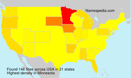 Surname Stee in USA