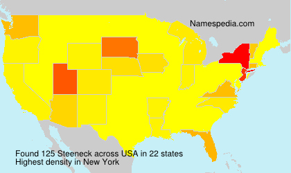 Surname Steeneck in USA