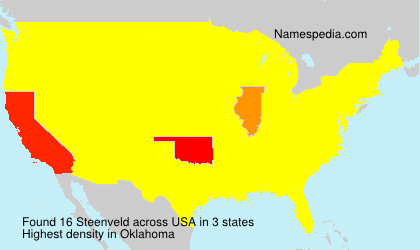 Surname Steenveld in USA