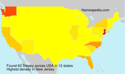 Familiennamen Steepy - USA