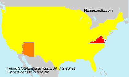 Surname Stefaniga in USA