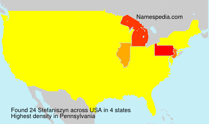 Surname Stefaniszyn in USA