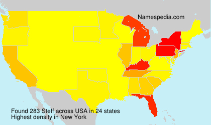 Surname Steff in USA