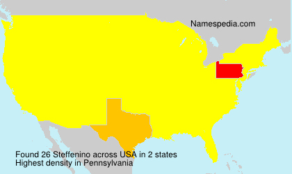 Surname Steffenino in USA