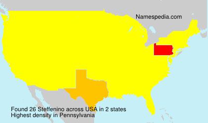 Surname Steffenino in USA
