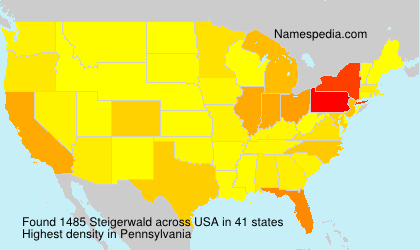 Surname Steigerwald in USA
