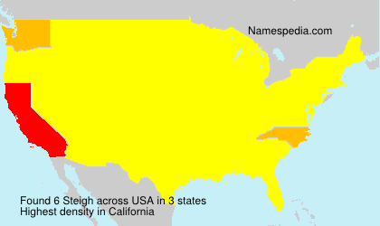Surname Steigh in USA