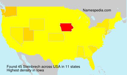 Surname Steinbrech in USA