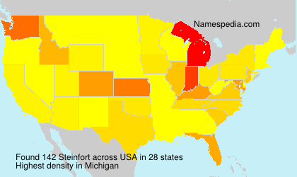 Surname Steinfort in USA