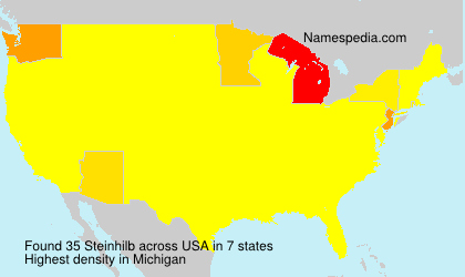 Surname Steinhilb in USA