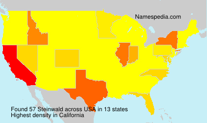Surname Steinwald in USA