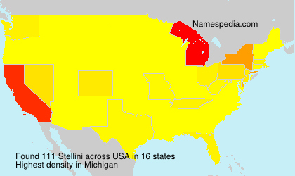 Surname Stellini in USA