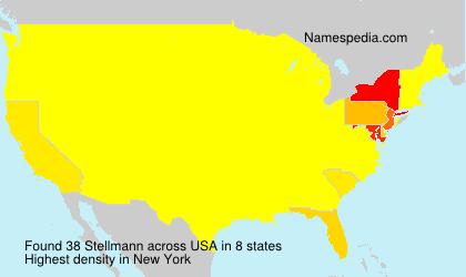 Familiennamen Stellmann - USA