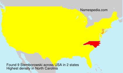 Surname Stemborowski in USA