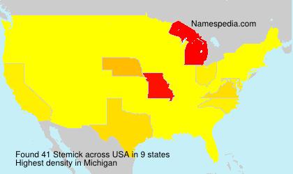 Surname Stemick in USA