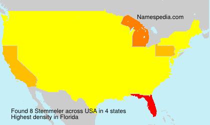 Surname Stemmeler in USA