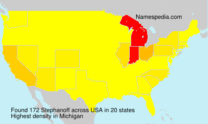 Familiennamen Stephanoff - USA