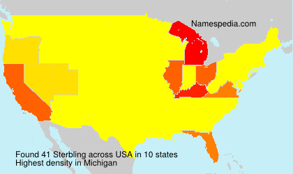 Surname Sterbling in USA