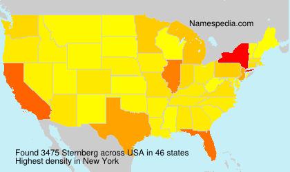 Familiennamen Sternberg - USA
