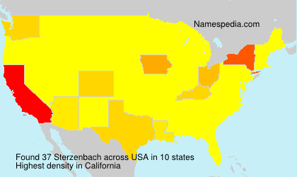 Surname Sterzenbach in USA