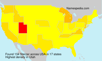 Surname Sterzer in USA