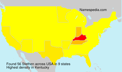 Surname Stethen in USA