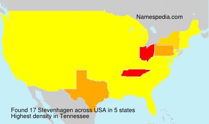Surname Stevenhagen in USA