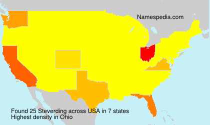 Surname Steverding in USA