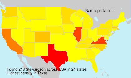 Surname Stewardson in USA