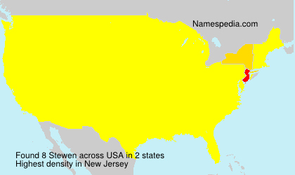 Surname Stewen in USA
