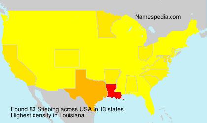 Familiennamen Stiebing - USA