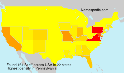 Surname Stieff in USA