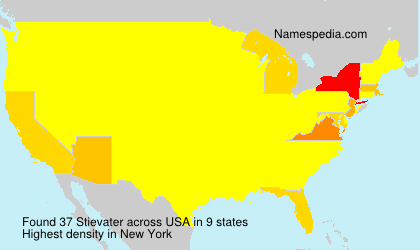 Surname Stievater in USA