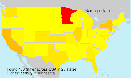 Surname Stifter in USA