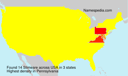 Surname Stimeare in USA