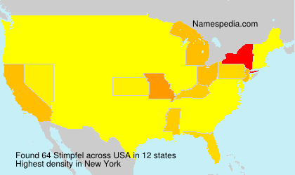 Surname Stimpfel in USA